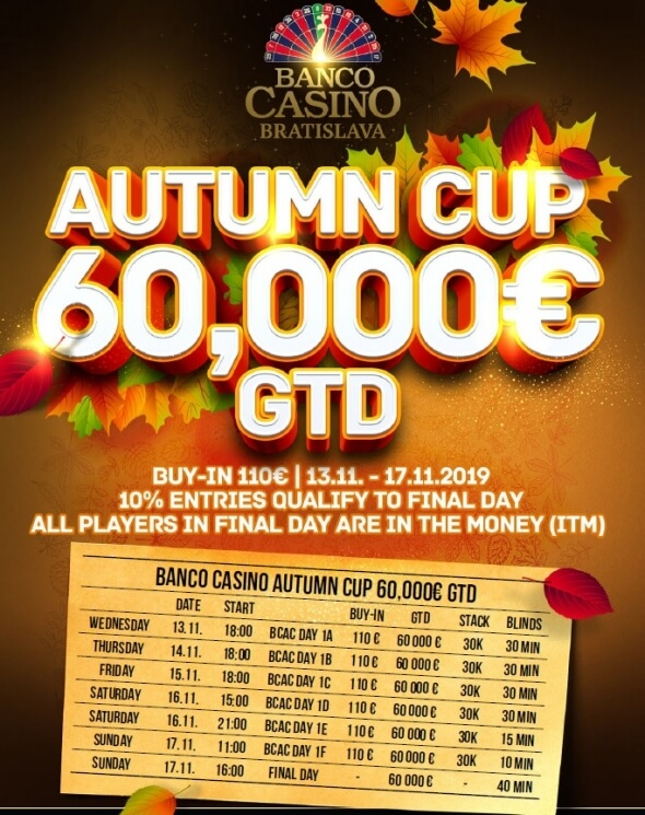 Program Autumn Cup o €60,000 GTD